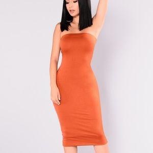 Fashionnova Tube Midi Dress
